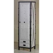 Skříň jednokřídlá se zásuvkami a policemi, smrk 53 x 200 x 60 cm