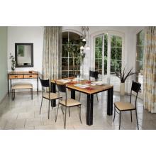 Stůl CARCASSONNE s dělenou deskou, dubová dýha 185 x 72 x 85 cm