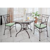 Kovaný stůl OHIO v kombinaci s ostatním nábytkem