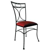 Kovaná židle OHIO se sedákem z mořské trávy