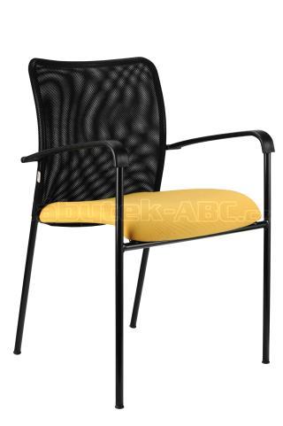 Jednací židle TRINITY černá konstrukce, područky