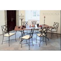 Kovaný stůl BOLOGNA v kombinaci s ostatním nábytkem