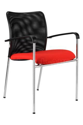 Jednací  židle TRINITY chromovaná konstrukce, područky