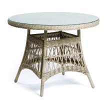 Zahradní stůl DENVER, ratan, kulatý, hnědá