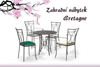 Set BRETAGNE stolová deska plech
