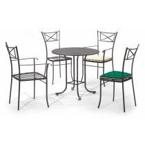 Kovová stolová podnož ALGARVE pro stolovou desku o rozměru 80 x 80 cm