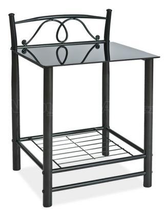 Noční stolek ET-920, barva černá, 49x46cm
