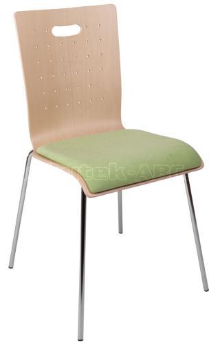 Konferenční židle TULIP (čalouněná, chromovaná konstrukce)