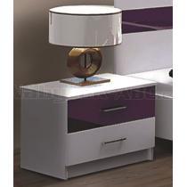 Noční stolek DUBLIN fialový