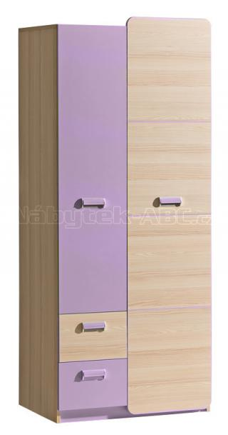 LIMO L1, šatní skříň, fialová