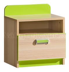 LIMO L12 noční stolek, zelený