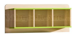 LIMO L9 závěsný regál, zelený