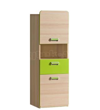 LIMO L4 skříňka se zásuvkou, zelená