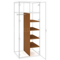 Police do šatní skříně STRONG, SVS 5 60, 39,2x149x56cm