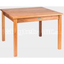 Teakový dětský jídelní stůl GIOVANNI MINI, 75x75x45cm