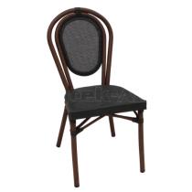 Zahradní ratanová židle LUCCA - A, černá