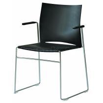 Plastová židle s područkami WEB (WB950.100)