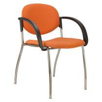 Jednací konferenční židle WENDY čalouněná (chromová konstrukce)