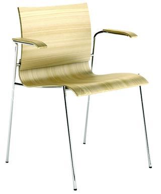 Dřevěná židle s područkami LETTY (LT 166)
