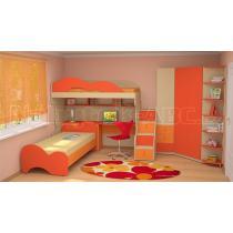 Dětský nábytek MIA - sestava č.3 oranžová