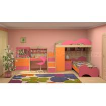 Dětský nábytek MIA - sestava č.6 oranžová-růžová