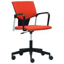 Čalouněná židle na kolečkách KVADRATO (KV 153)