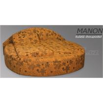 Kulatá dvoupostel s úložným prostorem MANON šířka 235cm
