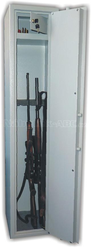 TREZOROVÁ SKŘÍŇ (trezor na zbraně) na 5 dlouhých zbraní WSA5