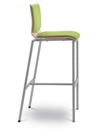 Barová židle TWIST  245-N1, černá konstrukce