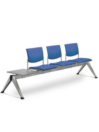 Multisedák třímístný SEANCE 099/3T-N2, stoleček, podnož v barvě efekt hliník