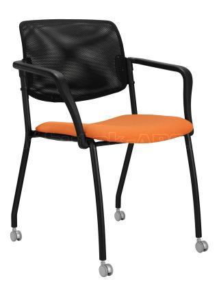 Jednací konferenční  židle  WENDY síť (černá konstrukce)
