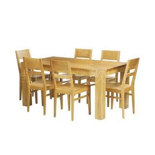 Jídelní sestava DUB 160 a židle ORLY