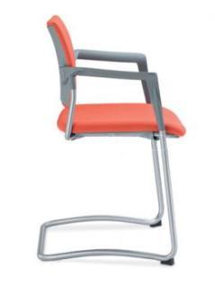 Jednací a konferenční židle DREAM 131/B-N2, konstrukce N2-efekt hliník, područky