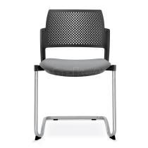 Jednací a konferenční židle DREAM+ 101-BL-N4, konstrukce chromovaná