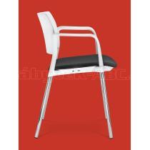 Jednací a konferenční židle DREAM+ 100-WH/B-N4, konstrukce chromovaná, područky