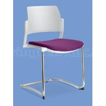 Jednací a konferenční židle DREAM+ 101-WH-N4, konstrukce chromovaná