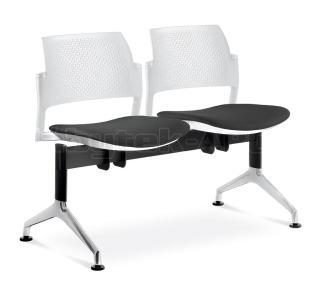 Multisedák čtyřmístný DREAM+ 145/4T-N1, konstrukce černá, stolek