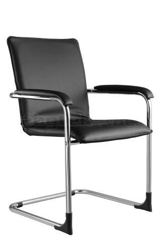 Jednací kancelářská židle SWING, chrom nebo RAL, čalouněné područky