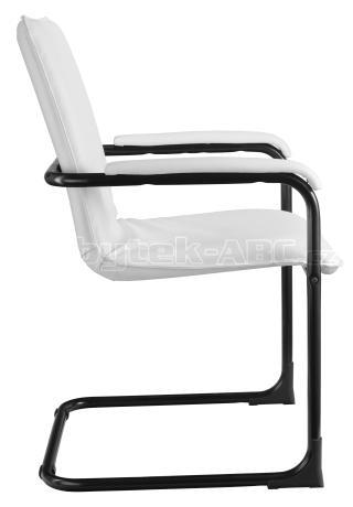 Jednací kancelářská židle SWING, podnož černá, čalouněné područky