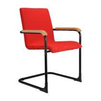 Jednací kancelářská židle SWING, podnož černá, dřevěné područky
