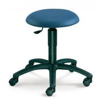 Otočná stolička MEDI, černý plastový kříž, potah z látky