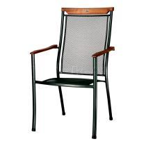 Zahradní židle CHIGOS - dřevěné područky (kód 8140)