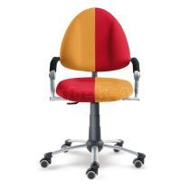 Rostoucí dětská židle FREAKY se žluto-červeným čalouněním