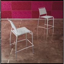 Židle BINGO H65 (textil, chrom)