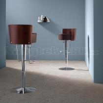 Židle BONGO LG (dýhovaný tmavý dub,chrom)