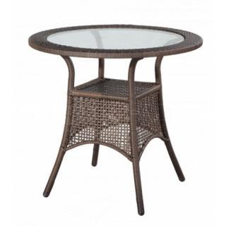 Zahradní ratanový stolek BERLIN, tmavě hnědý