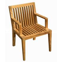 Zahradní teaková židle WELLS, područky