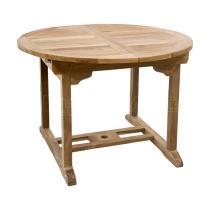 Zahradní teakový stůl MERCY 150, rozkládací, 110/150x110 cm