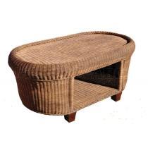 Ratanový stolek CANRI, přírodní ratan, 116x63cm