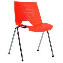 Plastová židle STRIKE 2130 PC, červená